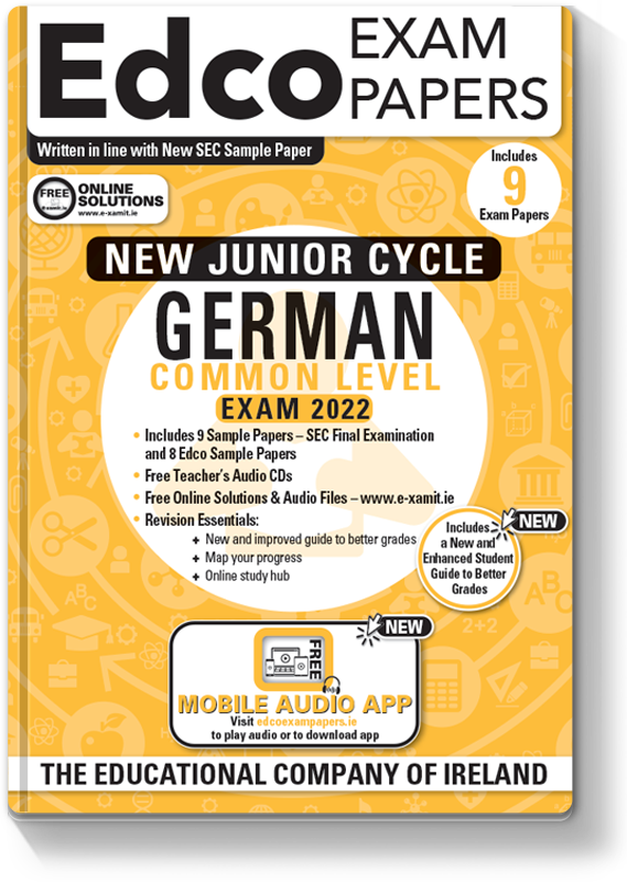 JC German Common Level Exam Papers 2020