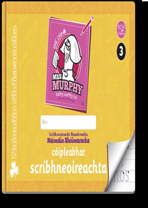 Mrs Murphy's Naíonáin Shóisearacha Cóipleabhar Scríbhneoireachta 2021
