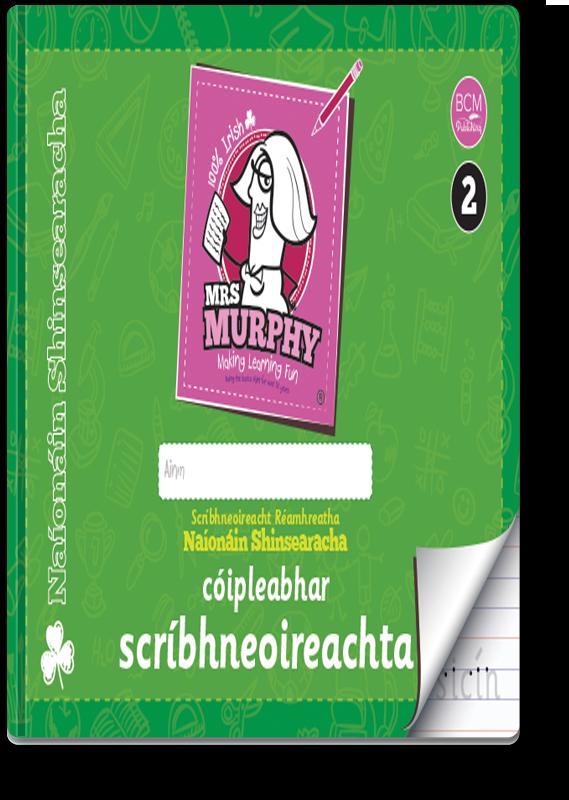 Mrs Murphy's Naíonáin Shinsearacha Cóipleabhar Scríbhneoireachta 2021